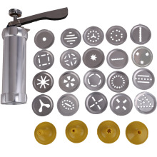 Biscuit Cookie Making Maker Pump Press Machine Cake Decor 20 Moulds+ 4 Nozzles Cookie Tools Cookie moulds