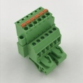 Pluggable wire to wire Din rail terminal block