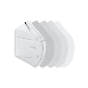 White List KN95 Face Masks With 5 Ply