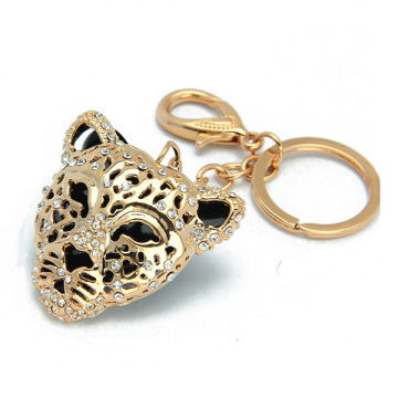 18K Gold Hollow Alloy Tiger Metal Personalized Key Rings