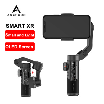 AOCHUAN SMART XR Handheld Gimbal Stabilizer 3 Axis Bluetooth OLED Stabilizer for Android IOS Smartphones VS MOZA MINI MX Snoppa
