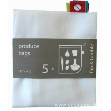 custom and cheap polyester mesh drawstring shopping bag