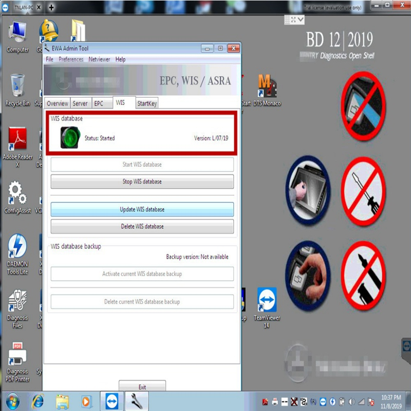 MB STAR SD C4 / C5 / C6 complete software epc 2018.11 and wis 2019.09 installation