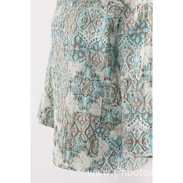 Ladies pleated print jacket