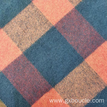 Woolen fashion Plaid  design brushing fabric