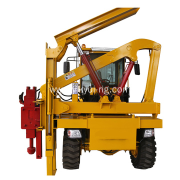 screw piling driver for pile ramming road loader