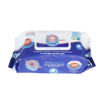 Flushable Wet Antibacterial Baby Tissue Cleaning Wipes