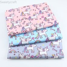 Unicorn 100% Cotton Fabric By Meter Diy Sewing Patchwork Quilt Cloth Bedding Blanket Sheet Pillow Decor Handmade Craft Tissus