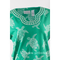 Ladies cotton knitting Tshirt in print