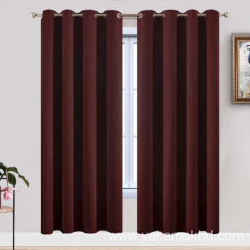Burgundy Red Blackout Curtains 72 Inch Long