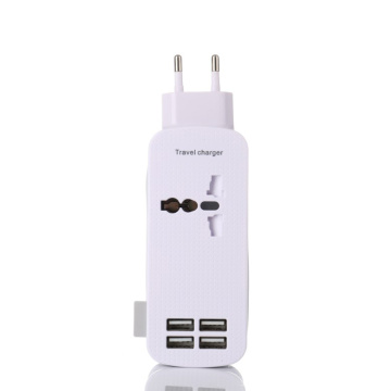 4 Ports Travel Power Strip Surge Protector