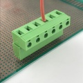 6 poles PCB straight pluggable terminal block
