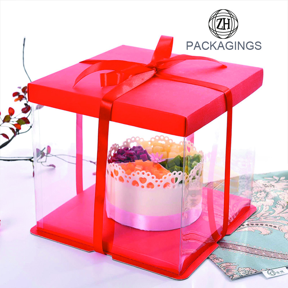 Bake Food Cake Boxes Plastic Packaging Box