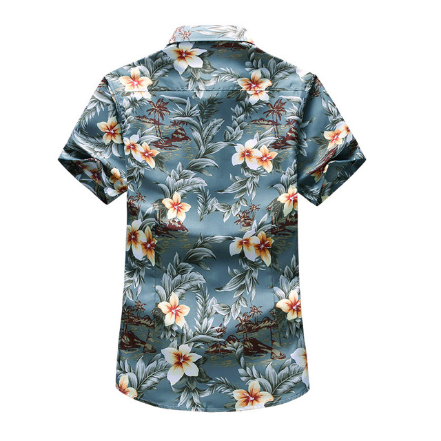 mens printed holiday shirt