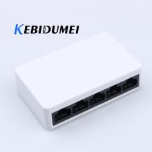 kebidumei High speed 100Mbps 5 Ports portas Mini Fast Ethernet LAN RJ45 Network Switch Switcher Hub Desktop PC US/EU adapter