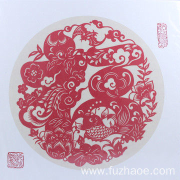 2019 fuzhaoe Paper-cut painting  decoration wall stickers