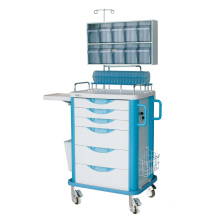 Anesthesia Trolley with Tilt Bin Orgnizers