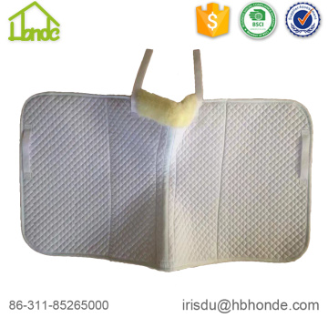 lambskin white dressage horse saddle pad