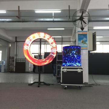4mm Curving LED video screen soft curtain sector