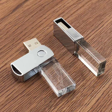 Crystal Rotating USB Flash Drive