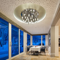 Home villa crystal led chandelier pendant light