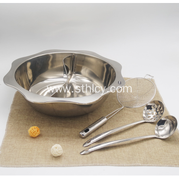 Stainless Steel Mandarin Duck Hot Pot With Four-Piece