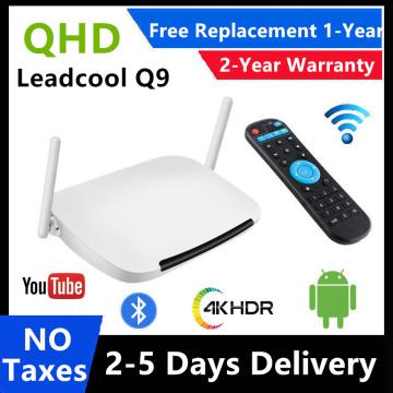 2021 Leadcool QHDTV Q9 Set Top Box 8GB 16GB RK3229 Quad Core 2.4G WiFi Media Player iptv m3u Leadcool Android 8.1 Smart TV Box
