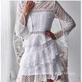 Long Sleeve Fashion Women Mesh Casual Dress