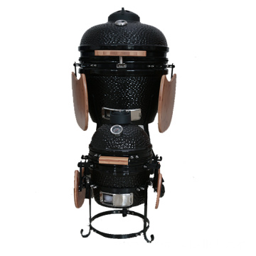 Easily cleaned portable bbq kamado ceramic grill