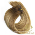 Cheap Double drawn machine weft hair extensions