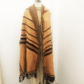 Autumn Knitted Fringe Scarf Custom