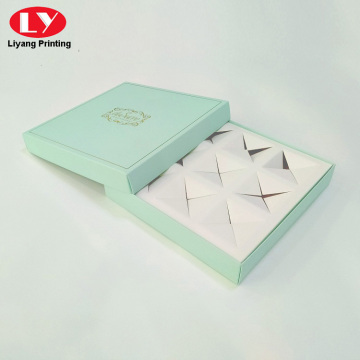 9 pieces square macaron paper box custom