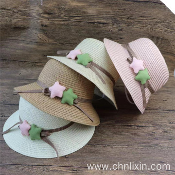 Large brim baby bucket hat beach straw hat