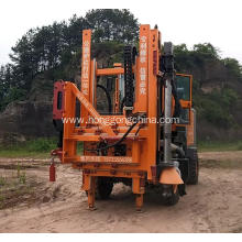Tractor Mounted highway guardrail drilling machine