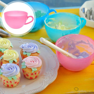 TTLIFE Baking Decoration Plastic Color Mixing Bowl Butter Cream Bean Paste Piping Cupcake Cake Decor ToolCream Bean Mixing Bowl