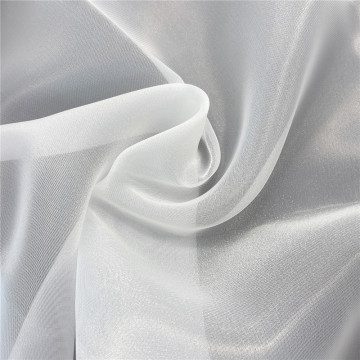 White Twinkle Organza Tulle Fabric for Wedding Dress