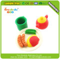 Food tooling shaped 3d erasers for children