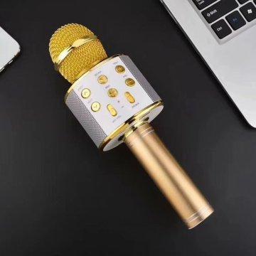 Bluetooth Karaoke Microphone Wireless Microphone Professiona Speaker Handheld Microfone Player Singing Recorder Mic promotion