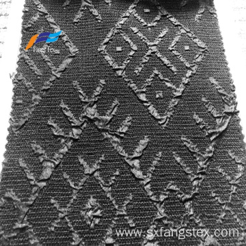 Polyester fokuro jacquard fabric with formal black