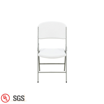 Easy White Plastic Blow-Molded Folding Chair For Wedding