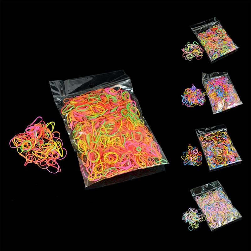 Approx. 100/200/1000pcs/bag Office Rubber Ring Rubber Bands Strong Elastic Stationery Holder Band Loop School Office Supplies