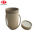 Cylinder Packaging Paper Box Round Kraft Boxes
