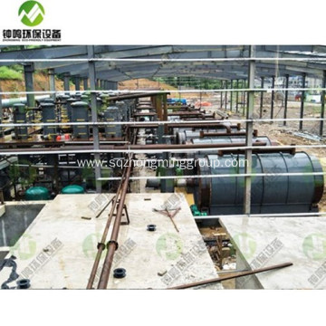 AutomaticTyre Pyrolysis Oil Distillation Plant