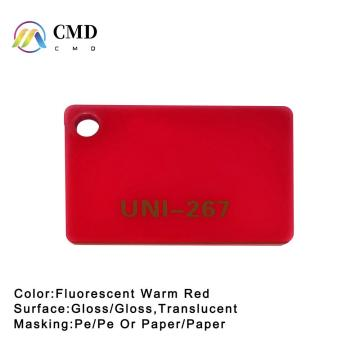Acrylic Fluorescent Warm Red