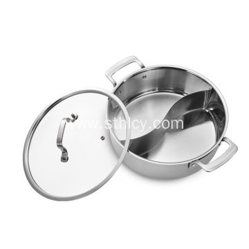 304 Stainless Steel Three-layer Steel Hot Pot