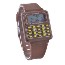 g Digital Sports Calculator Shock Siliocne Watch
