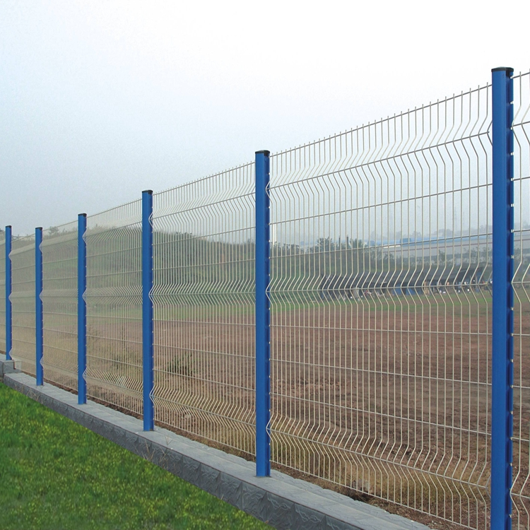 PVC Coated 3V Shape Welded Triangle Bending Fence