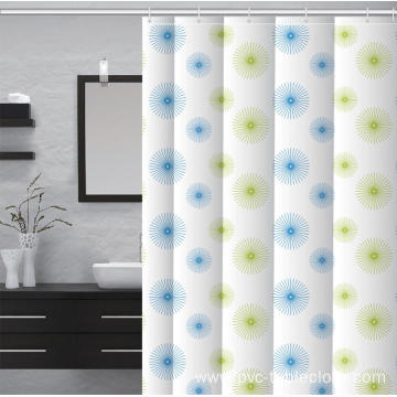 Waterproof Bathroom printed Shower Curtain Material