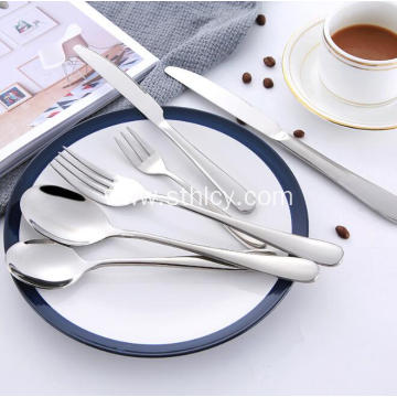 Classic Mirror Polish Stainless Steel Flatware Set