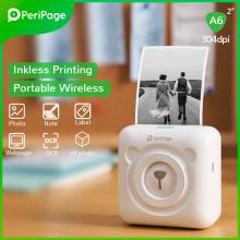 PeriPage 304dpi White Label Receipt Photo Wireless Mini Portable Thermal Bluetooth Printer A6